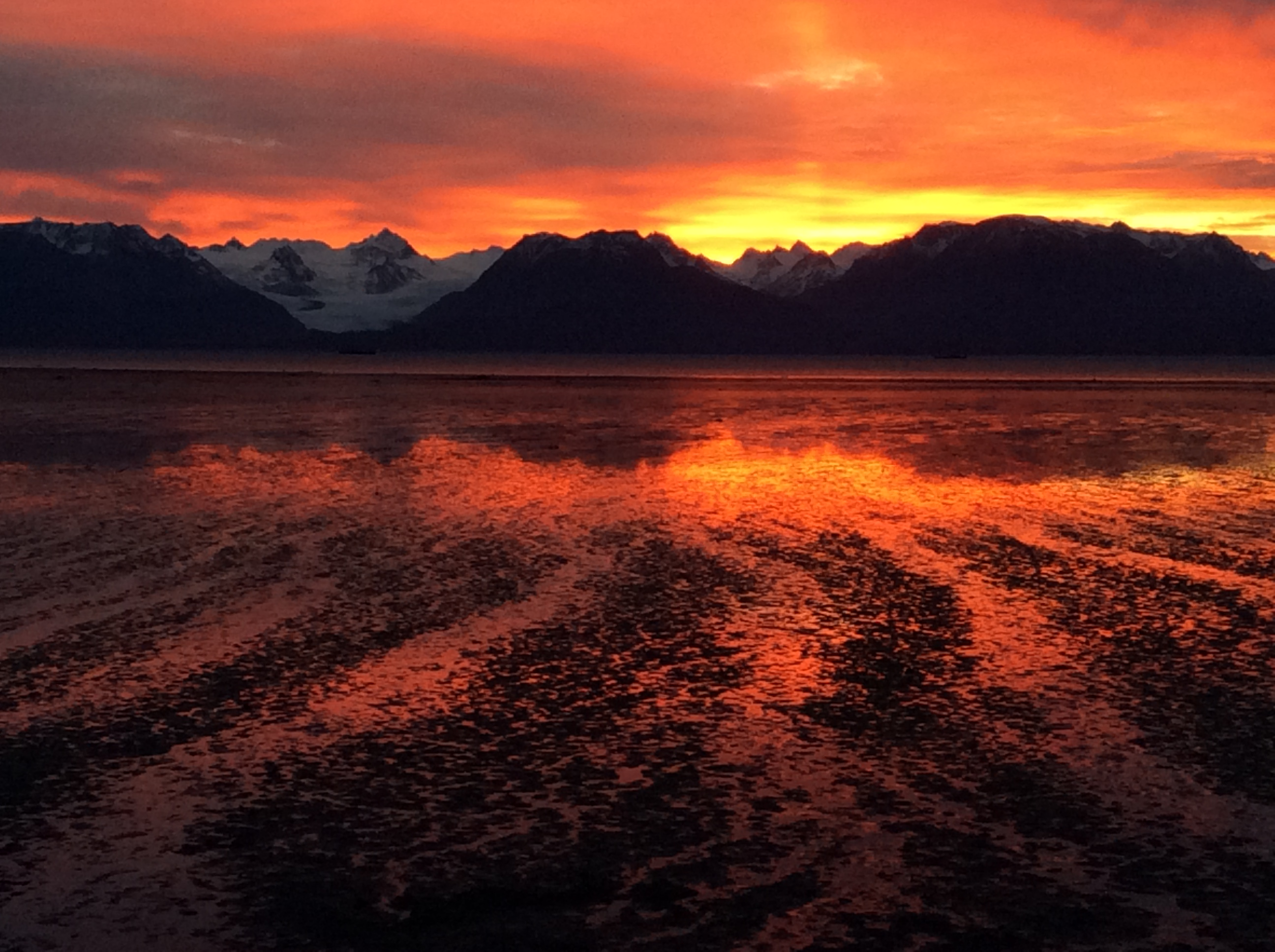Sunrise over Kachemak Bay in Homer